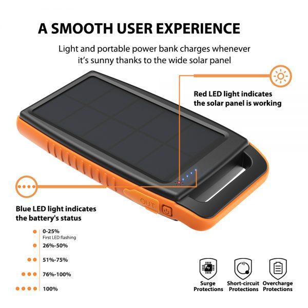 1.5 600x600 - پاوربانک خورشیدی ۱۵۰۰۰ میلیآمپر روپاور مدل RP-PB003