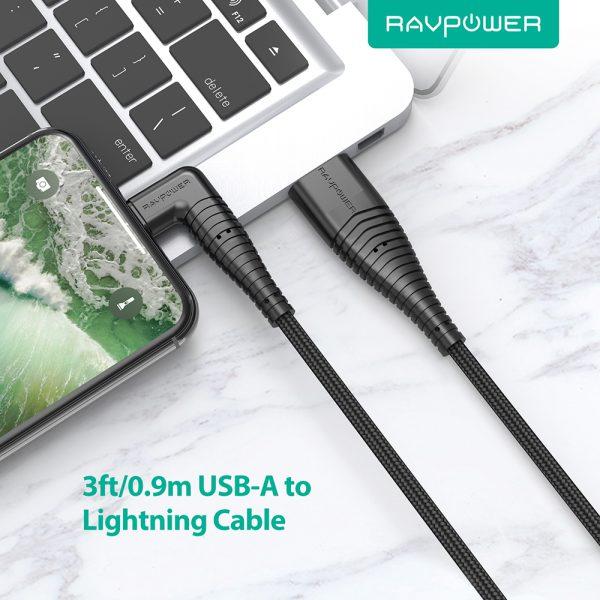 CB013 2 600x600 - کابل ۱ متری USB به Lightning روپاور مدل RP-CB013