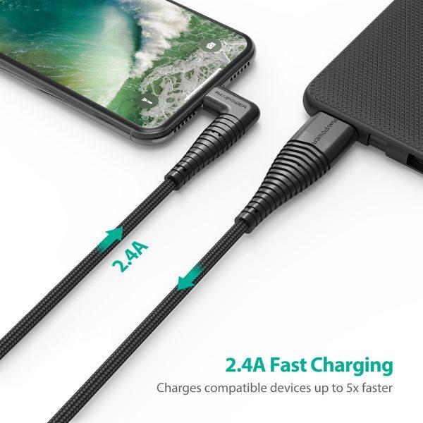 CB013 5 600x600 - کابل ۱ متری USB به Lightning روپاور مدل RP-CB013
