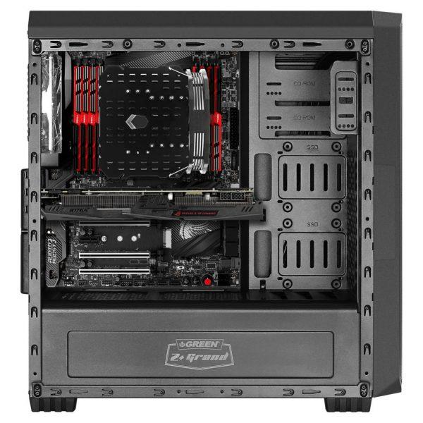 z plus grand black 03 600x600 - کیس کامپیوتر گرین مدل Z Plus GRAND