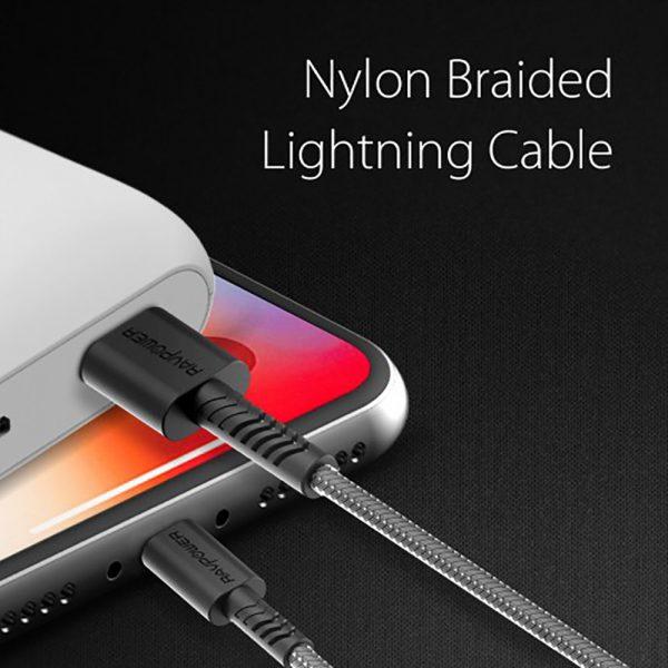 CB011 02 600x600 - کابل ۰.۳ متر USB به Lightning روپاور مدل RP-CB011