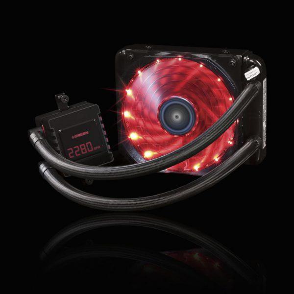 GLC120EVO GREEN Water Cooling 5 600x600 - خنک کننده آبی پردازنده (GLC120-EVO (GLACIER 120 EVO