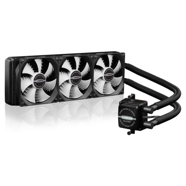 GLC360A GREEN Water Cooling 1 600x600 - خنک کننده آبی پردازنده(GLC360-A (GLACIER 360
