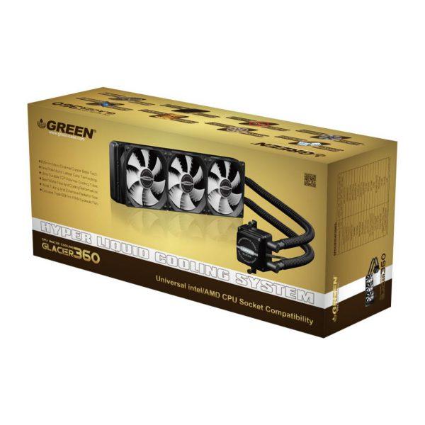 GLC360A GREEN Water Cooling 9 600x600 - خنک کننده آبی پردازنده(GLC360-A (GLACIER 360