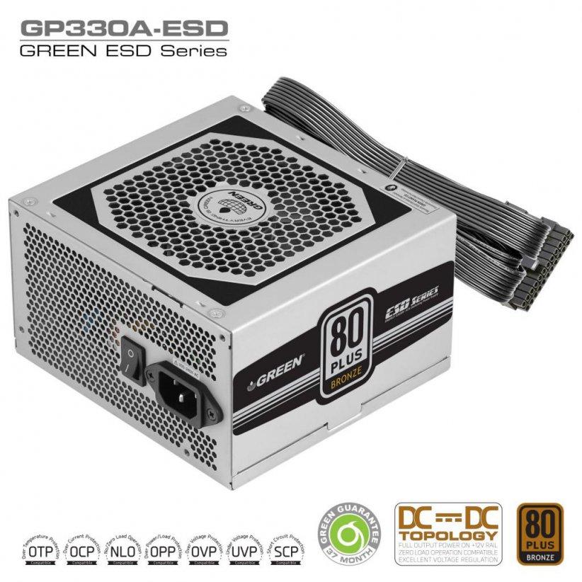 GP330A ESD DC to DC Power Supply 822x822 - منبع تغذیه کامپیوتر گرین مدل GP330A-ESD