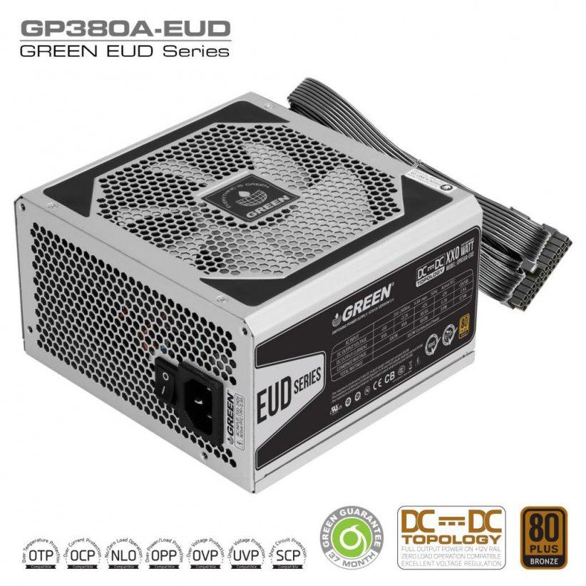 GP380A EUD DC to DC Power Supply 822x822 - منبع تغذیه کامپیوتر گرین مدل GP380A-EUD
