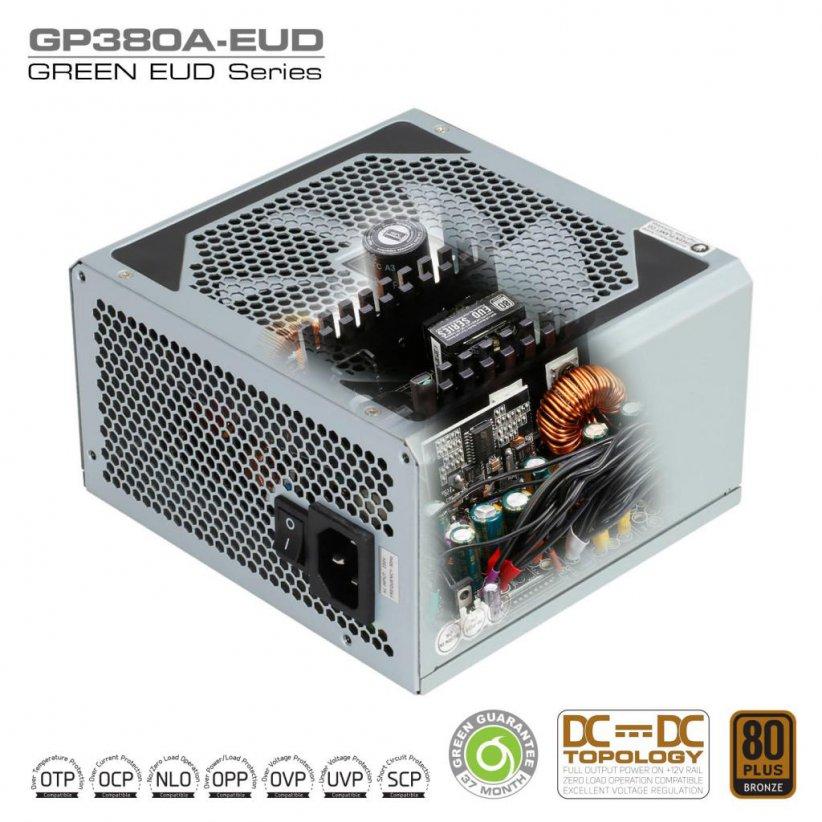 GP380A EUD DC to DC Power Supply Inside 822x822 - منبع تغذیه کامپیوتر گرین مدل GP380A-EUD