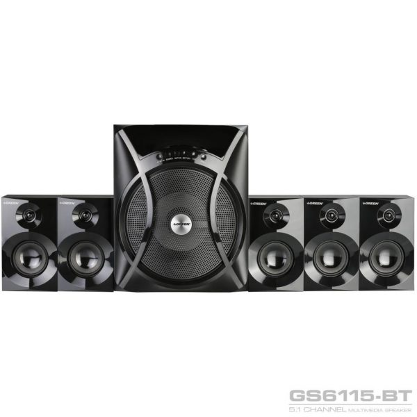 GS6115BT 115W RMS 5 1Channel Speaker 01 600x600 - اسپیکر دسکتاپ گرین مدل GS6115-BT