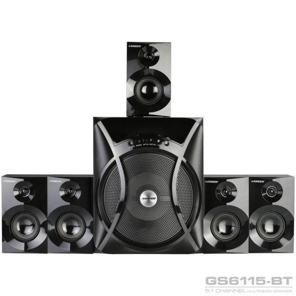GS6115BT 115W RMS 5 1Channel Speaker 02 600x600 - اسپیکر دسکتاپ گرین مدل GS6115-BT