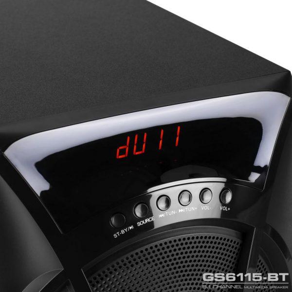 GS6115BT 115W RMS 5 1Channel Speaker 09 600x600 - اسپیکر دسکتاپ گرین مدل GS6115-BT