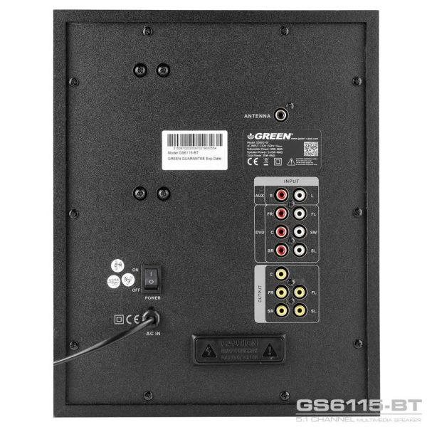 GS6115BT 115W RMS 5 1Channel Speaker 10 600x600 - اسپیکر دسکتاپ گرین مدل GS6115-BT