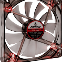 green gf140 turbo vga 200x200 - Case Fan GREEN 140mm Turbo LED