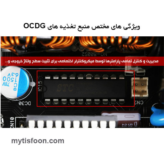 ocpt power 2green 1 - منبع تغذیه کامپیوتر گرین مدل GP1050B OCDG