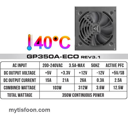 350 - منبع تغذیه کامپیوتر گرین مدل GP350A-ECO