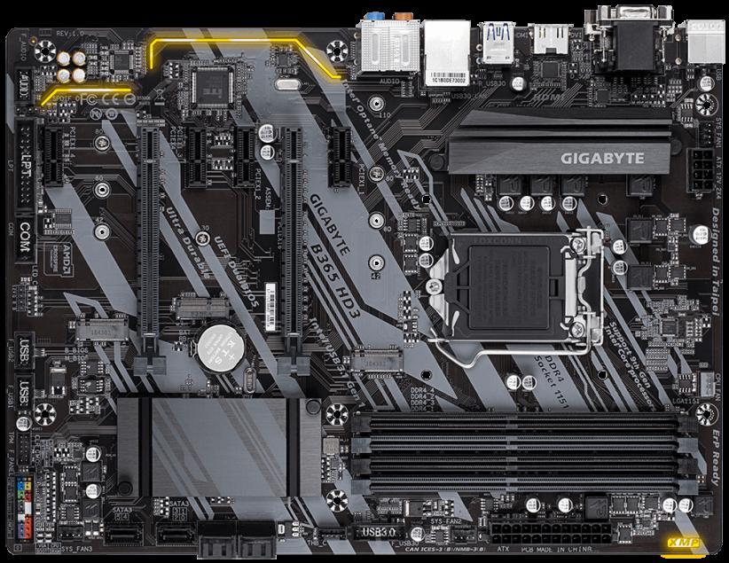 گیگابایت مدل B365 HD3 2 822x635 - مادربرد گیگابایت مدل B365 HD3