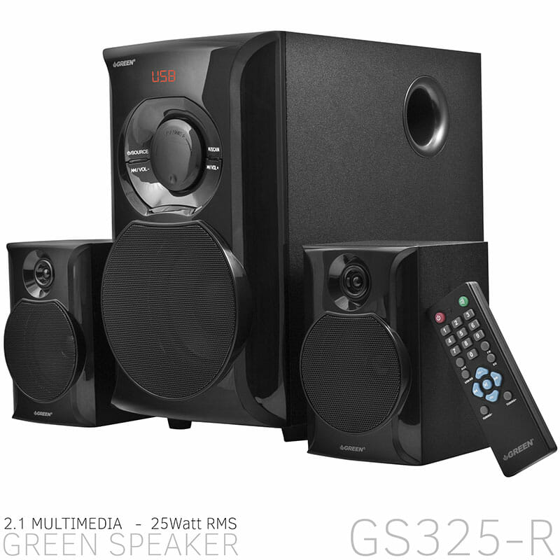 GS325R GREEN Speakers - پخش کننده خانگی کامپیوتر گرین مدل GS325-R