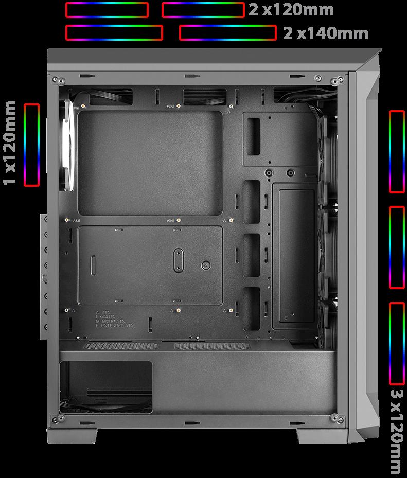 GREEN Z5 SURENA OV07 - کیس کامپیوتر گرین مدل Z5 SURENA