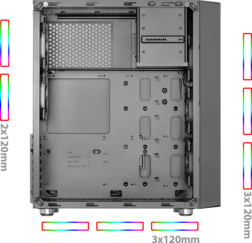 GREEN Z6 ARTEMIS OV08 - کیس کامپیوتر گرین  Z6 ARTEMIS