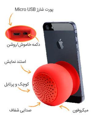 1 - اسپیکر بی سیم پرومیت Promate Globo Wireless Speaker