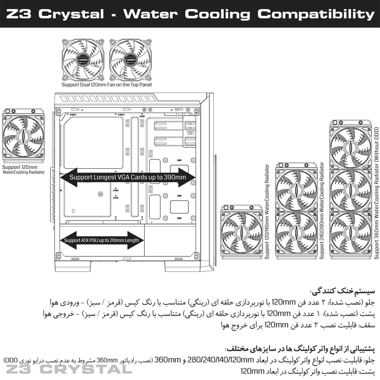Z3 CRYSTAL 37 - کیس گرین مدل Z3 Crystal