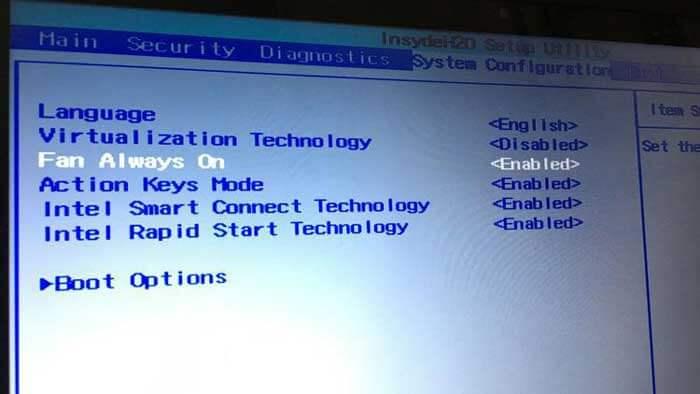 fan settings in your PC's BIOS1 - چگونه سرعت فن سی پی یو را افزایش دهیم؟