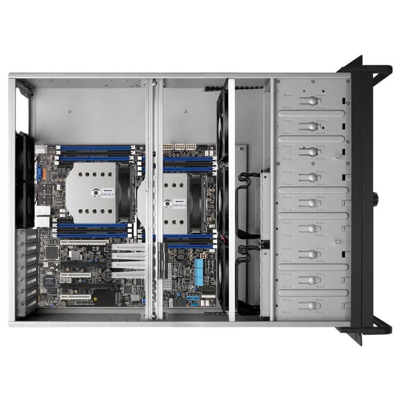 G600 4U Rackmount Inside - کیس رکمونت گرین مدل G600 4U