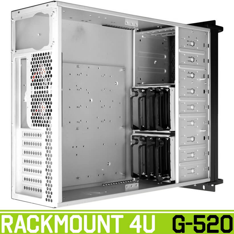 rackmount g520 back green - کیس رکمونت گرین مدل G520 4U