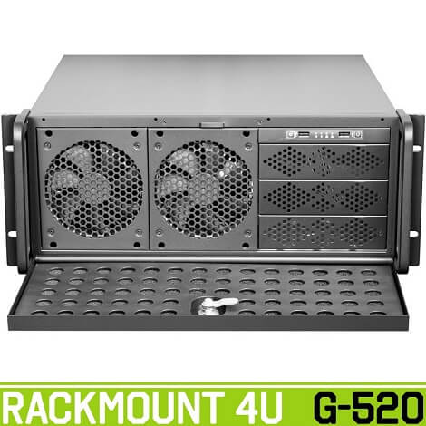 rackmount g520 front green 1 - کیس رکمونت گرین مدل G520 4U